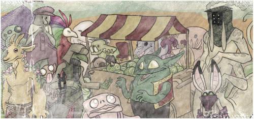 The Melon Seller by phantomeus