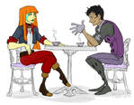 Tea Time Discussion by phantomeus