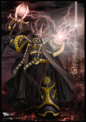 Wh40k - Sorcerer in colour by Paraxyzm