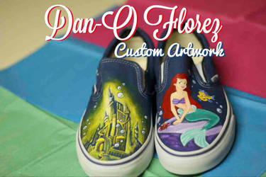 Custom Painted The Little Mermaid Vans shoes by itsdanosucka on DeviantArt a34406f31