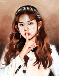Oil Painting Photo Study, Daisy (MOMOLAND) by EleanorAdelaide