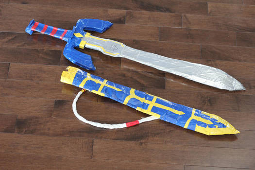 Duct Tape Master Sword and Sheathe by silicon-jayce