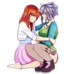 StoicMagician25 (Kali and Ruka) Commisison by FlyingPings