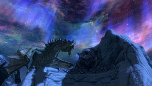 Skyrim Paarthurnax by Wr47h