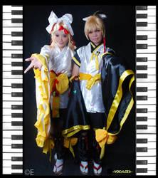 Kagamine Twins by xOxAmmAxOx