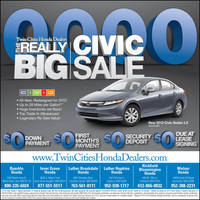 Twin Cities Honda Dealers BIG Civic Sale by tlsivart