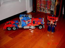 LEGO Movie Optimus Side by brotherpanda