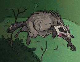 Raccoon Attacking by SuperStinkWarrior