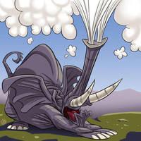 Sneezing Elephant by SuperStinkWarrior