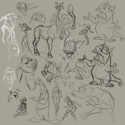 Sketchdump From Work Pt 1 by SuperStinkWarrior