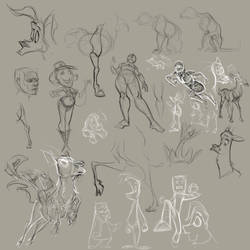 Sketchdump From Work Pt 2 by SuperStinkWarrior