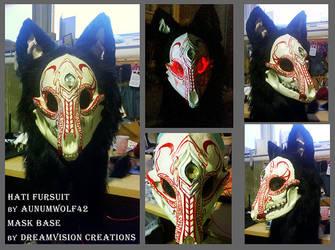 Hati Fursuit head by Aunumwolf42