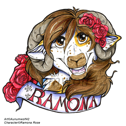 Ramona Rose Badge by Aunumwolf42