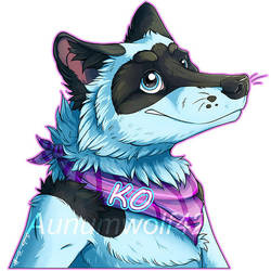 Ko Badge [Commission] by Aunumwolf42
