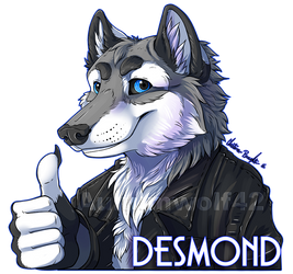 Desmond digital badge [commission] by Aunumwolf42
