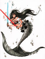 MerMay 2018 Day 4: MerMay the 4th Be With You by SaphaiaNefertiti