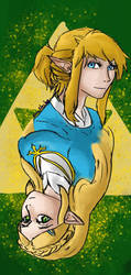 TLOZ - Breath of the wild - Link and Zelda by NoraNecko