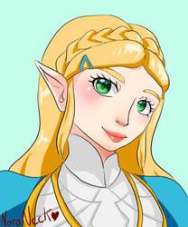 The Legend of Zelda - Princess Zelda- BOTW by NoraNecko