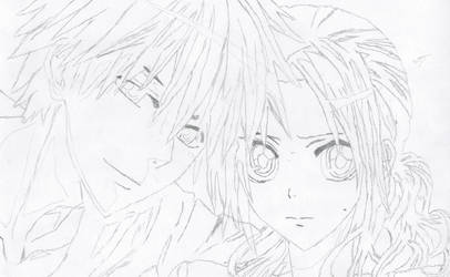 Kaichou wa maid-sama Lineart by DarylKT