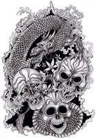 Tattoo Design: Happy, Sad, Mad by tjiggotjurring