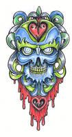 Tattoo Design: New School 3 by tjiggotjurring