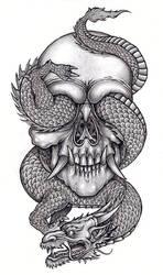 Skull and reptile 1 by tjiggotjurring