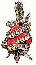 No Hope No Fear Tattoo by tjiggotjurring