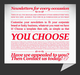 You Choose - Newsletter by xantisant