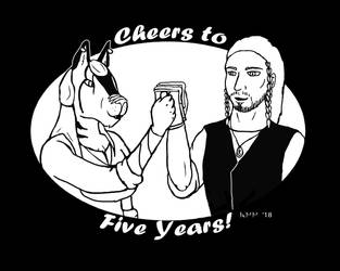 Cheers to Five Years! by LadyMetaRose