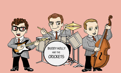 Buddy Holly's Chibi Crickets by Merc-Raven