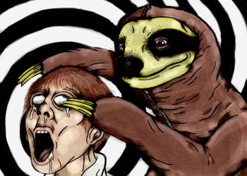SCP-2774 mind control Sloth by charcoalman