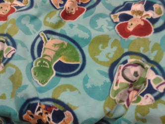 tied toddler quilt front side by Bennirory