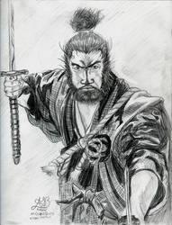 Musashi, Miyamoto by Asderathos