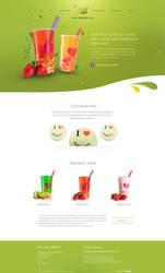 Halo Bubble tea website by igrenic