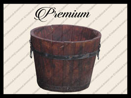 Wooden bucket png by TinaLouiseUk