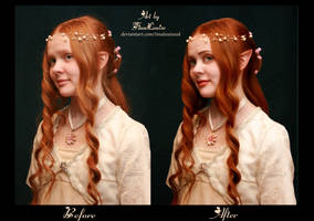 Fairy Portrait before and after by TinaLouiseUk