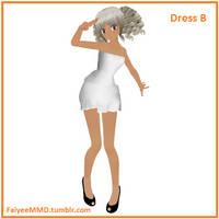 MMD Dress B - DL by FaiyeeMMD