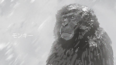 Japanese macaque by monsta87