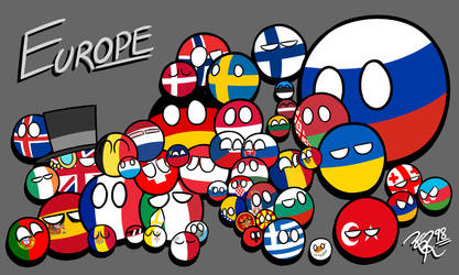 Countryballs of Europe (+Speedpaint) by RGR98