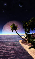 Tropical Moonrise by Anaxsys