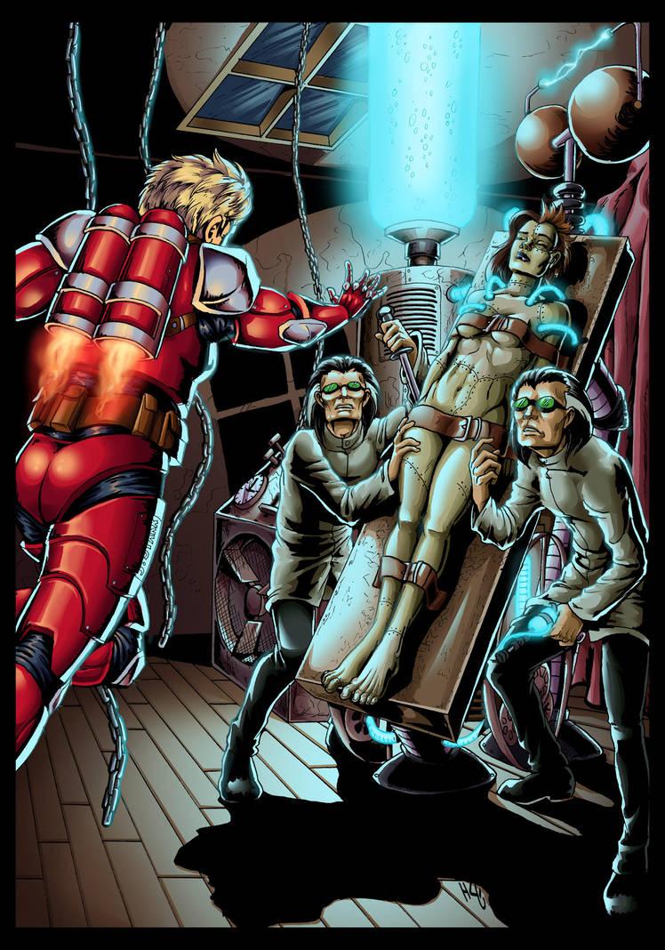 Jet Starr Vs Lady Frankenstein by manic-pixie