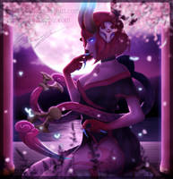 Blood Moon Evelynn - League of Legends by Eremas-su