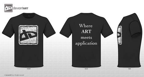 Typographic DA Logo shirt by OurHeroXero