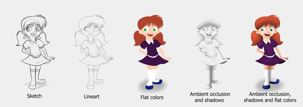 Little Girl Steps By Drawing 4ever On Deviantart