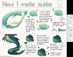 Tips sencillos para dibujar escamas by kiraLb