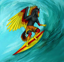 Surfin' by risawn