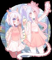 pinku girls by Kochll