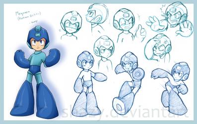 Megaman Study by shazy