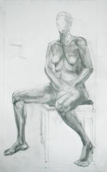 2 day female sitting pose by rouge11