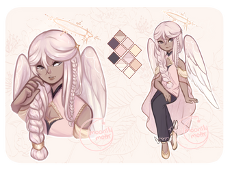 [OPEN AUCTION] rosegold angel by moonilymoth